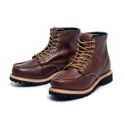 [PATH FINDER]2068 LEATHER BOOTS DARK BROWN