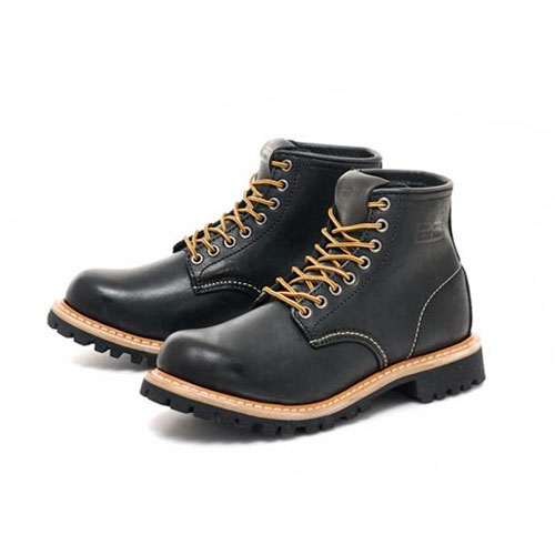 [PATH FINDER]2068A LEATHER BOOTS BLACK