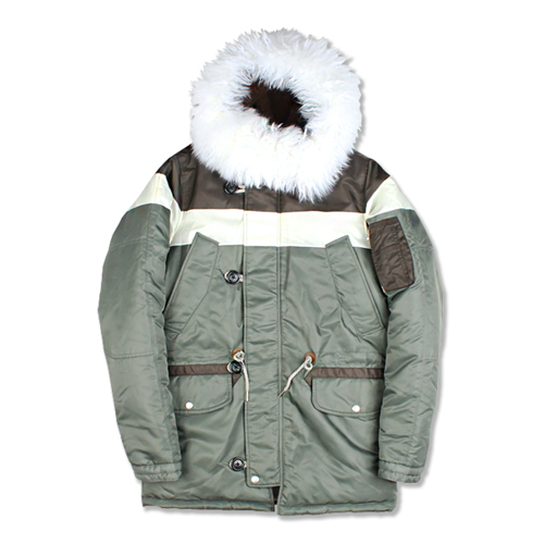 [마치위드] BLOCK N3B HEAVY PARKA SAGE GREEN
